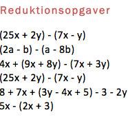 reduktion matematik opgaver